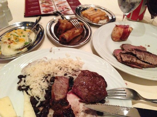 Fogo de Chao Brazilian Steakhouse: Sample of meats and sides at Fogo de Chao