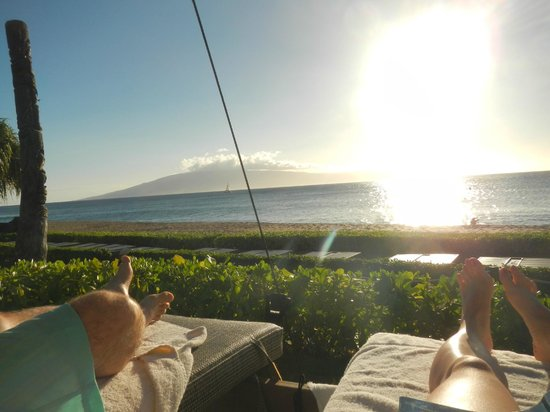 The Westin Maui Resort & Spa: view from one of the cabanas