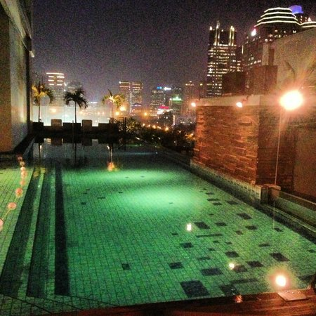 HARRIS Suites FX Sudirman: Swimming pool with city view