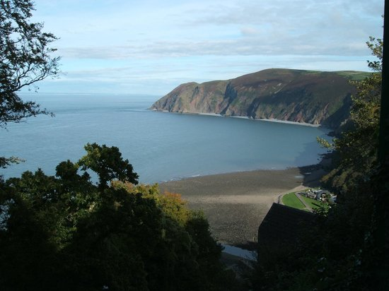Lynton Cottage Hotel: The stunning view from the restaurant