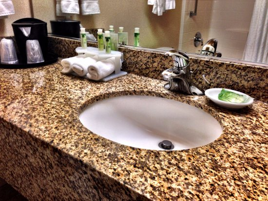 Holiday Inn Express and Suites Astoria : Bathroom sink