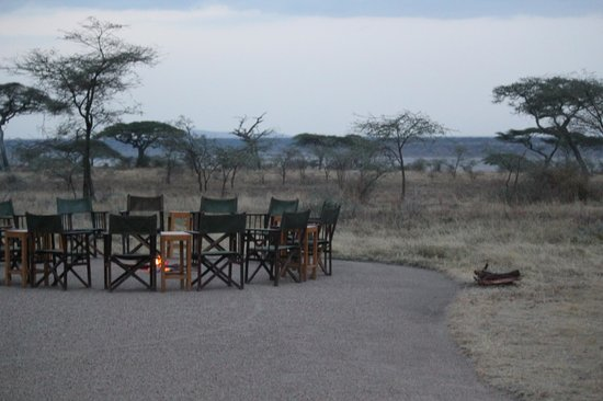 Ndutu Safari Lodge : Evening campfire - great way to end the day