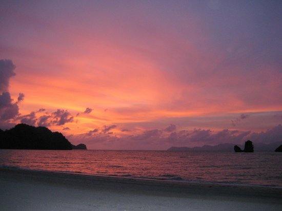 Tanjung Rhu Resort : sunset