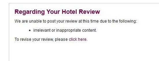 Crowne Plaza Manila Galleria : they did not post my comment