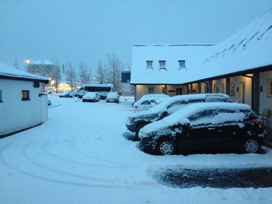 Hotel Laxnes: We didn't expect snow in this trip