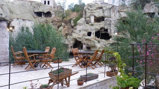 Oyku Evi Cave Hotel: View from front of room,