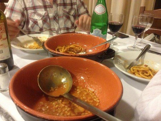 Ristorante Tullio a Montebeni: Trattoria Tullio Farro Soup and Pasta, Family Style