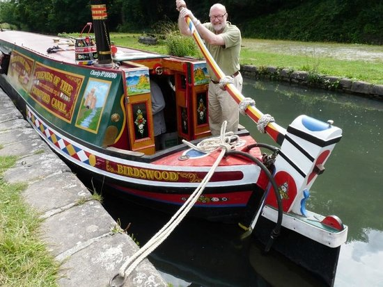 Cromford Canal: Traditional canal narrowboat at Cromford