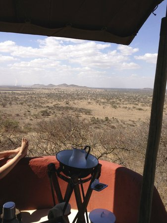 Shu'mata Camp: view from a tent