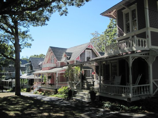 Martha's Vineyard Camp meeting Association (MVCMA): Street Lined With Some Cottages