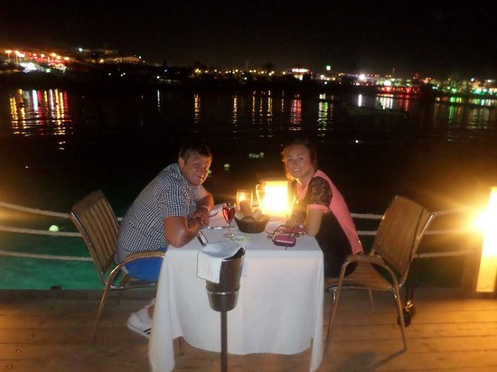 On Deck - Floating Restaurant : our table