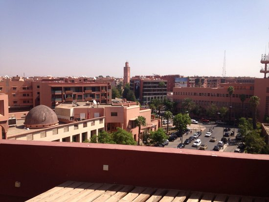 Hotel Almas: The view from the roof/pool.