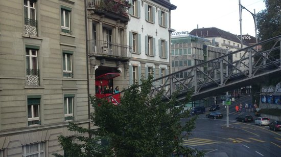 Hotel du Theatre by Fassbind: Shock as tram materialises out of building!