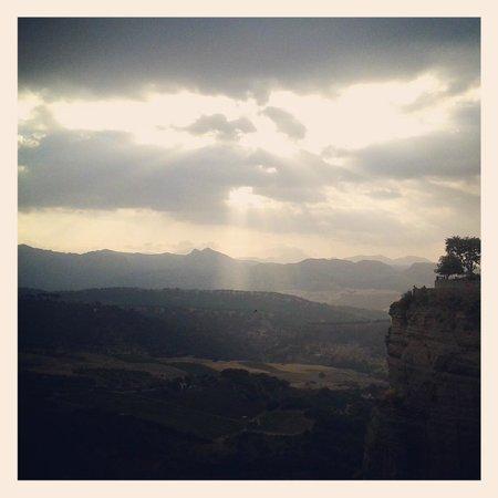 Hotel Hermanos Macias: View over the stunning Sierra