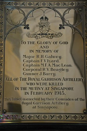 St Andrew's Cathedral: Royal Artillery Memorial