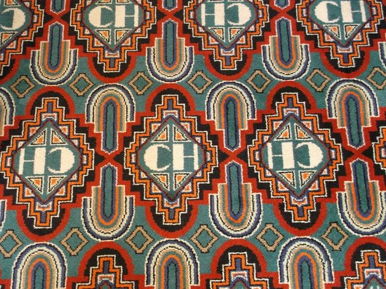 County Hotel: the retro carpet in the hotel
