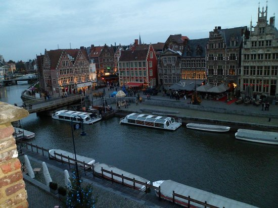 Ghent Marriott Hotel: View from hotel room