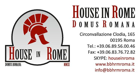 Guest House House in Rome Domus Romana: contact us