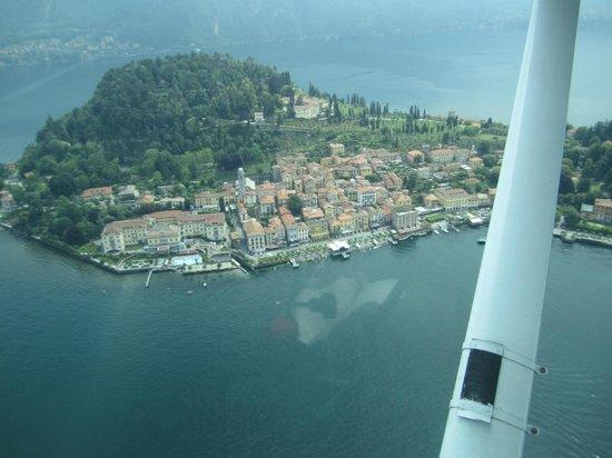 Albergo Terminus Hotel: Bellagio from float plane
