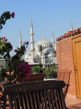 Uyan Hotel: Vista do Terraço: Mesquita Azul
