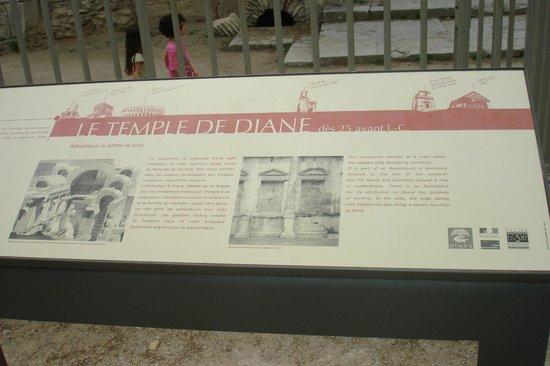 Temple de Diane : Interessante