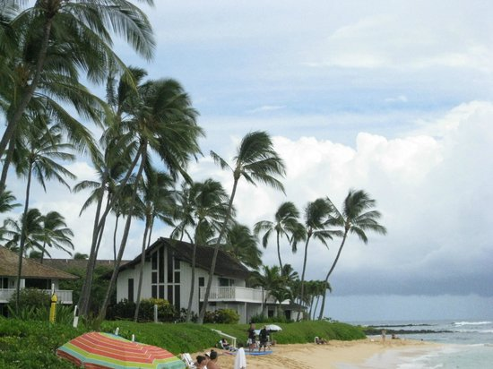 Kiahuna Plantation Resort: looking towards the east to the Marriott Hotel