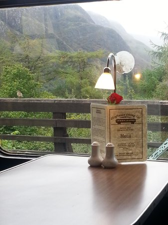Glenfinnan Station Museum Dining Car: Lovely view from the carriage