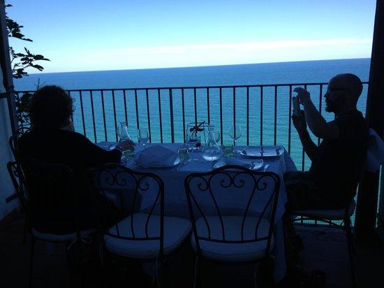Porta di Basso: The table on the balcony