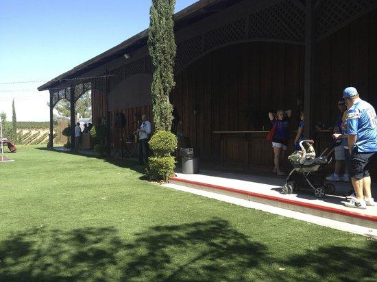 Jazz playing outside Falkner Winery