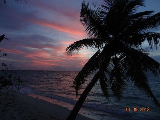 Filitheyo Island Resort: Sonnenuntergang