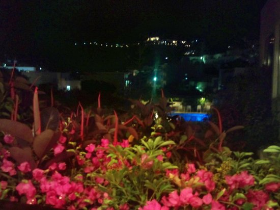 Skala Hotel: night view from the balcony