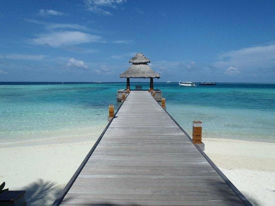 Baros Maldives: Jetty de llegada