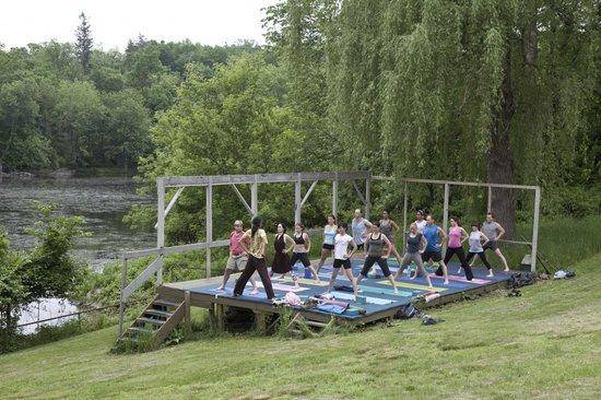 Ananda Ashram- Yoga Society of New York : Outdoor Yoga Platform