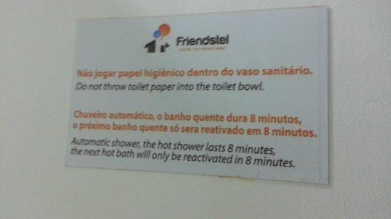 Friendstel : Seja rápido no banho!