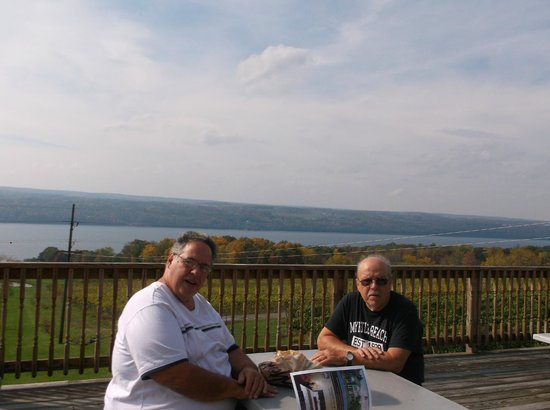 Chateau Lafayette Reneau: on the deck in back