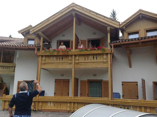 Hotel Restaurant Wellness Waldheim: balconi delle nostre stanze