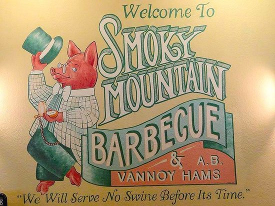 Smoky Mountain Barbecue: inside wall