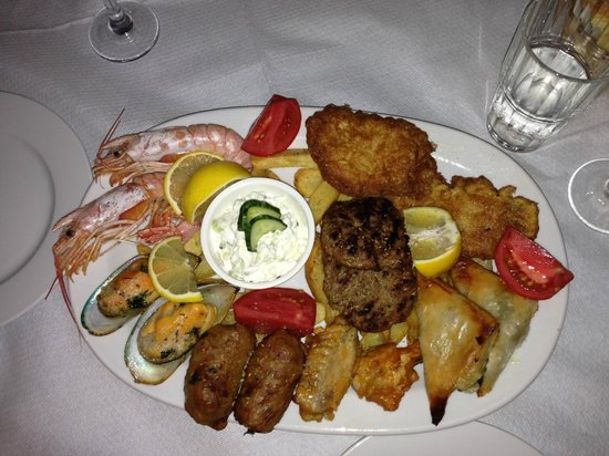 Cavo D'Oro : Mixed plate for two people