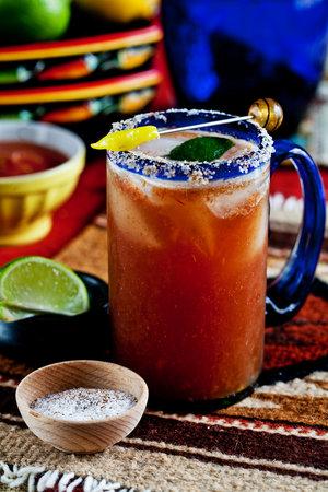 Tepozteco: michelada! beer with chili
