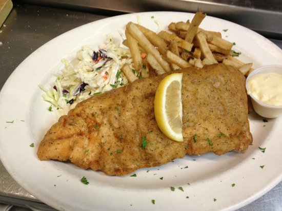 Coyote's Steakhouse and Lounge: Great Slave Lake Beer Battered Whitefish and Chips