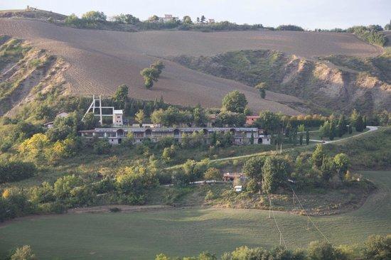 La Corte della Miniera vista da Monte Calende