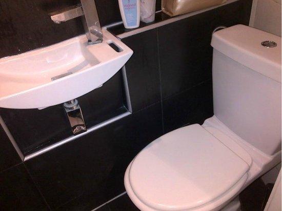 Hotel Camelia Nation: bagno minuscolo e scomodo