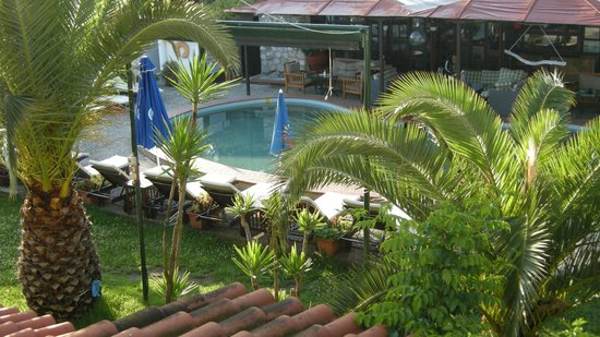 Oasis: View from room of pool and bar area