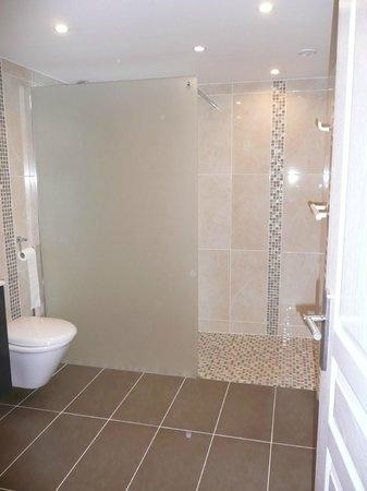 La Colline Aux Yeux Doubs: Salle de bain chambre simple