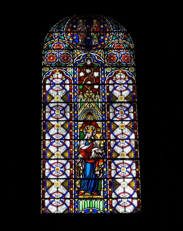 Basilica Cathedral of St. John the Baptist: Stained Glass at Basilica of St. John the Baptist