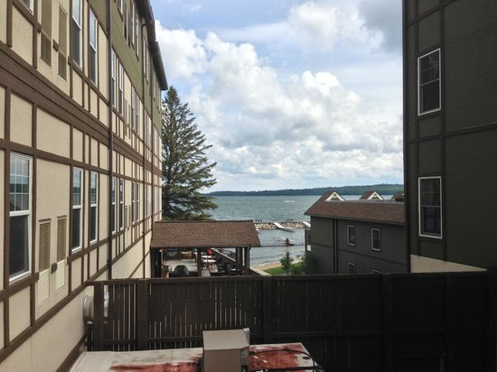 "Chase on the Lake: Our view from the ""no view"" room.  Not bad."