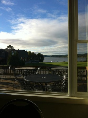 Belfast Harbor Inn: View at breakfast