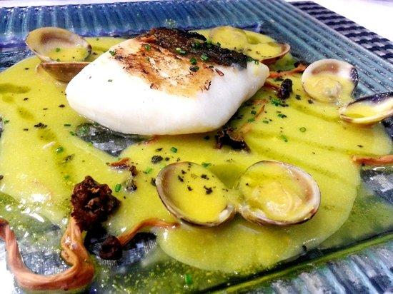 Gastronomik 2.0: Bacalao con chirlas y salsa de azafran con trompetas