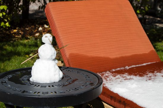 Hotel Aspen : Someone made a snowman