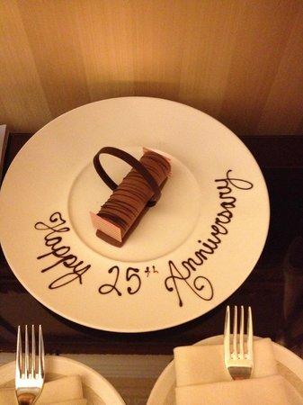Fairmont Grand Del Mar: Complimentary dessert